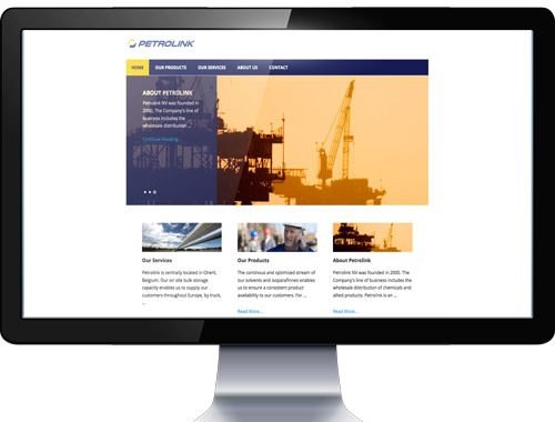 website Petrolink - gemaakt door CoolComMotion